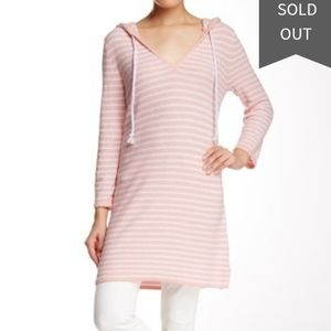 Cullen Pink French Terry Stripe Tunic Sz Small